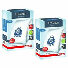 Miele GN HyClean 3D Efficiency Dust Bags for Miele Vacuum 8 Bags & 4 Filters