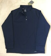 New Men's Tek Gear Performance Track Athletic Half Zip Jacket Top DryTek Large