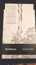 Nespresso Descaling Kit Clear Systems Two Bags New Kosher Fluid Kit Universal