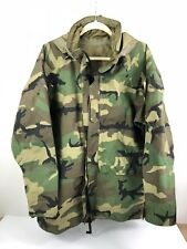 Woodland Camo Vintage Military Parka Goretex Cold Weather Jacket Large Regular