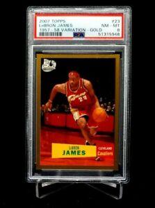 2007 Topps 1957 -58 Variation Lebron James Gold #'d 0069/2007 PSA 8 Cavs Lakers