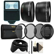 58MM Lens Filter Accessory Kit + Slave Flash for CANON EOS 550D 500D 450D 400D