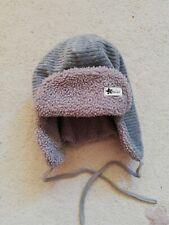 Sterntaler Baby Winter-Fliegermütze zum Binden mit Baumwollfleece-Innenfutter bl