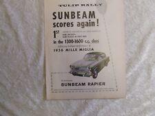 SUNBEAM RAPIER TULIP RALLY 1956 MILLE MIGLIA POSTER ADVERT READY FRAME A4 SIZE