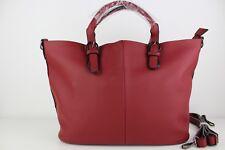Red Handbag women's ladies faux leather new design tote fashion shoulder bag New