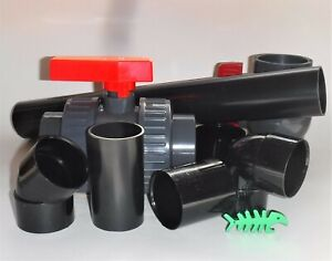 """43 mm True Size (known as 1.5"""") Solvent Weld waste pipe Fittings, fits 43 mm"""