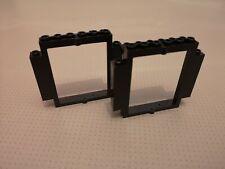 Lego - 2 x Revolving Door Frame - Black (30101) GMT60