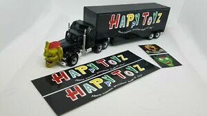 """Maximum Overdrive- Happy Toyz Trailer- Set of 4 stickers only- 1""""x5"""" sides"""