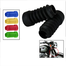 Motorcycle Rubber Fork Dust Cover Front Gaiters Boots Fit for JOG50 90 Black
