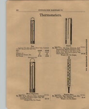1903 PAPER AD 2 Sided Taylor Brothers Thermometers Pocket Floating Dairy Marine