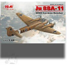 ICM 1/48 JUNKER JU 88A-11 WWII GERMAN TWIN ENGINE BOMBER KIT TROPICAL