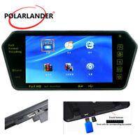 "7"" HD TFT LCD Bluetooth Rear View Mirror Slot Car Monitor Mp5/FM/USB Support TF"