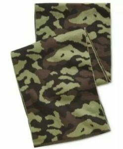 """Steve Madden Mens Green Camouflage 9.5"""" Wide 64"""" Long Scarf"""