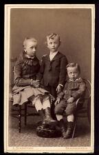 1041a❚ CDV Foto, Kinder , Thonetstuhl , Braunschweig
