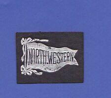 c1910s L21 tobacco / cigarette leather  NORTHWESTERN UNIVERSITY#2 pennant