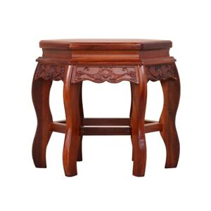 Ming Dy STL Hexagon Stool Coffee Tea Table Dalbergia cochinchinensis 實木酸枝木#1141