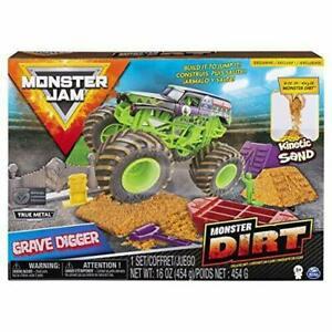 Monster Jam Monster Dirt Deluxe Set Playset Grave Digger New Sealed Kinetic Sand