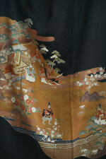 Vintage Japanese kimono tomesode   from Japan 9-16