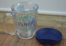 Tervis 16oz Insulated Mug + Lid -- Baby It's Cold Outside, Snowflake -- NEW