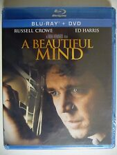 A Beautiful Mind (Blu-ray/DVD, 2012, 2-Disc) Russell Crowe,Jennifer Connelly(NEW