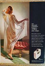 1943 Dana Tabu white cologne redhead nude sheer lingerie color original ad