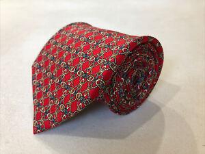 Tom James Men's Red Novelty Geometric Belts Tie $125