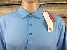 Cutter & Buck Men's Drytec SS Polo Shirt Baby Blue NEW NWT OTHER -A200