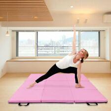 Gymnastics Exercise Tri Folding Mats Crash Floor 3cm Thick Yoga Gym +Hand Buckle