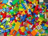 LEGO DUPLO Bricks 0.5kg (500g) RANDOM blocks parts INC numbers 1-10 + 1 figure