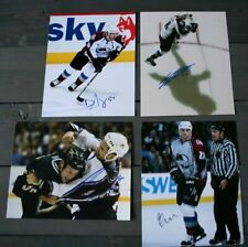 Lot 4 Autographed Colorado Avalanche 8x10 Photos Jones Wolski Laperriere Lacroix