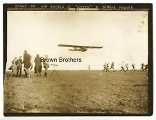 "Vintage 1910s Von Botsch ""Edith"" Pioneer Aviation Single Decker Airplane Photo"