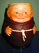 """Goebel Friar Tuck large Mug T74 I V 5 1/4"""" happy monk West Germany brown"""