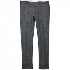 New Gant Rugger Herringbone Smarty Pants Wool Graphite Melange Size 36 or 52