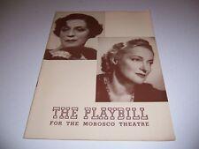 1941 MOROSCO THEATRE PLAYBILL - OLD ACQUAINTANCE - JANE COWL PEGGY WOOD K SMITH