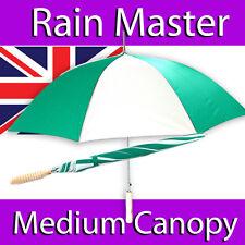 Paraguas Para Hombre Damas Verde Blanco medio dosel Pino Mango Golf Automático