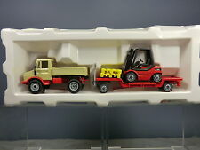 SIKU MODEL No.2522 UNIMOG WITH TRAILER & FORKLIFT TRUCK   MIB