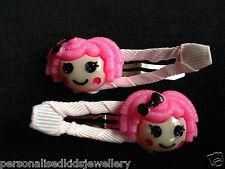 Girls Hair Clip LALALOOPSY (2x snap hairclip) Peppa Pig Elmo Hoot Party Favour