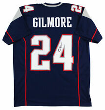 Patriots Stephon Gilmore Authentic Signed Navy Jersey Autographed JSA