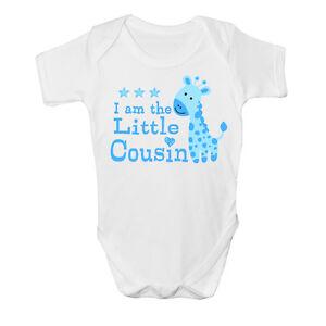 I am the Little cousin Baby Vest cute grow Funny bodysuit New Gift Boys Design