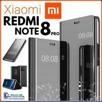 Coque Flip Pour Xiaomi Redmi Note 8 Pro Étui A Livre Clear View 360° Noire