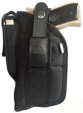 Pro-Tech Gun Holster with Mag Pouch Fits Hi-Point 45 with Laser OWB Black Nylon