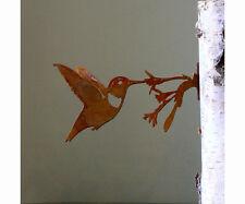 Elegant Garden HUMMINGBIRD Bird Silhouette Rusty Metal Rustic Art Made in USA