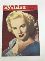 YILDIZ #11 Turkish Magazine 1950s VIRGINIA MAYO COVER Jane Wyman ULTRA RARE