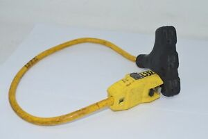 POWER FIRST 5YL45 Plug-In GFCI with Cord, 2 ft, Yellow, 15.0 A, Plug Configurati