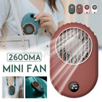 Portable Neck Hanging Fan Lazy Neckband USB Rechargeable Mini Outdoor 2600mAh