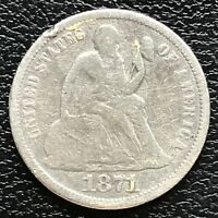 1871 Seated Liberty Dime 10c Higher Grade #13377