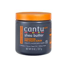 Cantu Shea Butter Men Cleansing Pre-Shave Scrub Ingrown Hair Exfoliate Skin 8oz