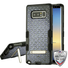 Aluminum Treads Black TUFF Cover Magnetic Metal Stand SAMSUNG Galaxy Note 8