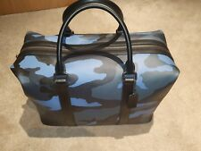 Unisex Coach Voyager Camo Keepall / Duffle Bag - Blue - Flawless!