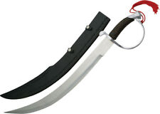 "Pakistan Pirate Sword 901110-SL 25"" overall. 17"" stainless blade. Black plastic"